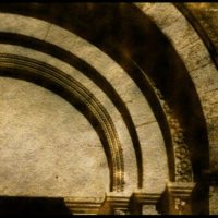 detail of arches, waxed negative
