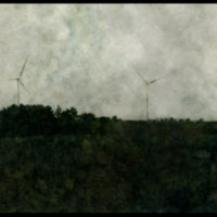 windmills and field